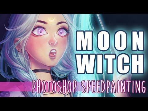 Moon Witch - Digital Speedpainting