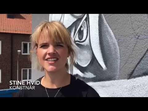 Muralmålning på Högaborg