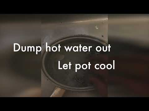 Simple way to clean a burned pot