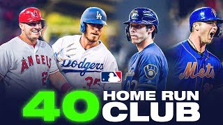 The 40 Home Run Club: Mike Trout, Cody Bellinger, Pete Alonso and Christian Yelich have crossed!