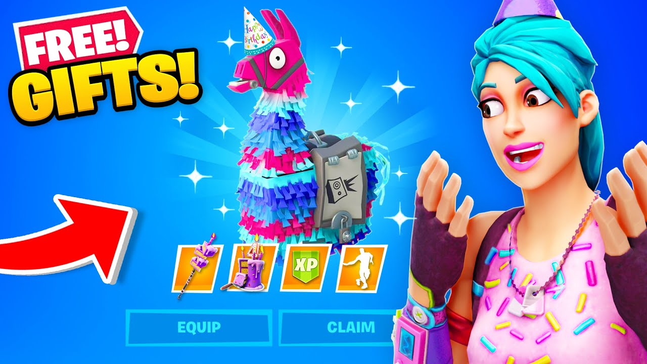 Download *FREE* GIFTS for EVERYONE! (Fortnite Birthday Rewards)