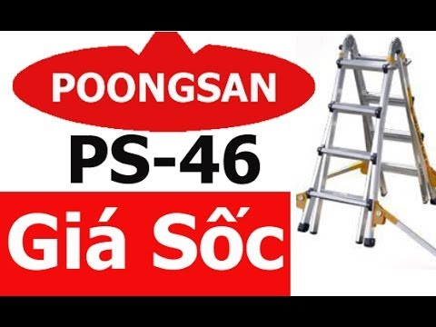 Thang nhôm chữ A Poongsan Hàn Quốc PS 46   Thang nhom chu A Poongsan Han Quoc PS 46