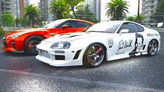 Preparei um Toyota Supra pra drift! - Forza Horizon 3 (G27 mod)