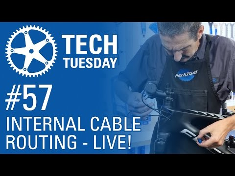 Internal Routing of Dropper Seat Post - LIVE! - Tech Tuesday #57