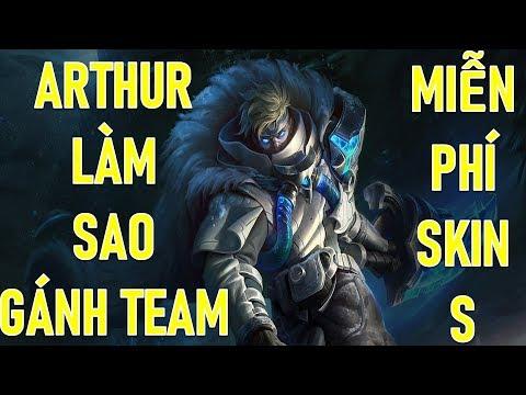 Arthur vs Cá, Làm thế nào để gánh team? tặng 2Skin và 1 tướng toàn Việt nam Mừng sinh nhật lần 3