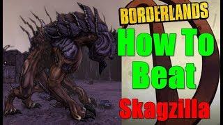 Borderlands How To Beat Skagzilla Walkthrough Big Game Hunter Gameplay Commentary HD