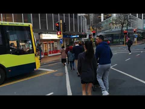 Downtown Wellington New Zealand City Streets - Part 3