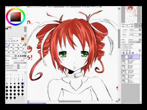 How to color anime hair - YouTube