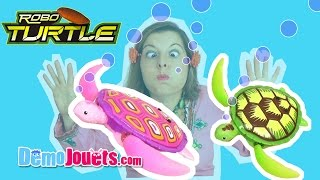 (JOUET) Robo Turtle Aquarium Tortue Splash Toys - Démo Jouets