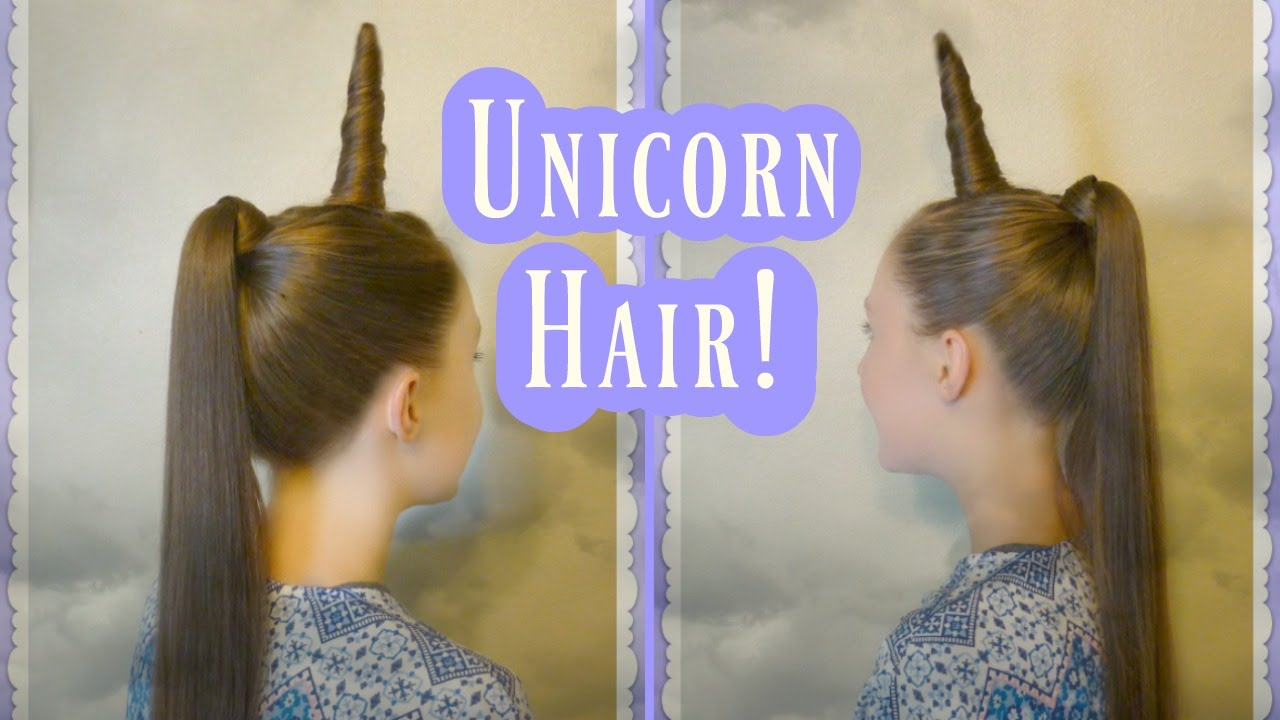 unicorn hairstyle tutorial for halloween or crazy hair day! - youtube