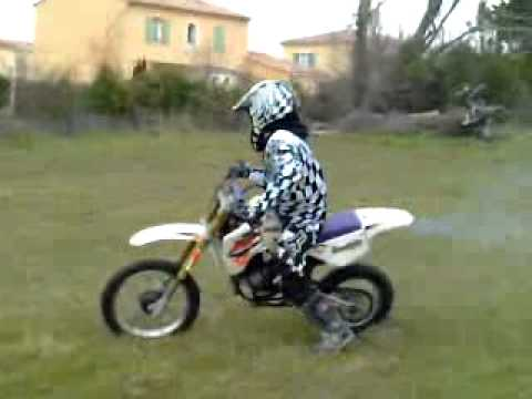 burne avec moto ktm 50 youtube