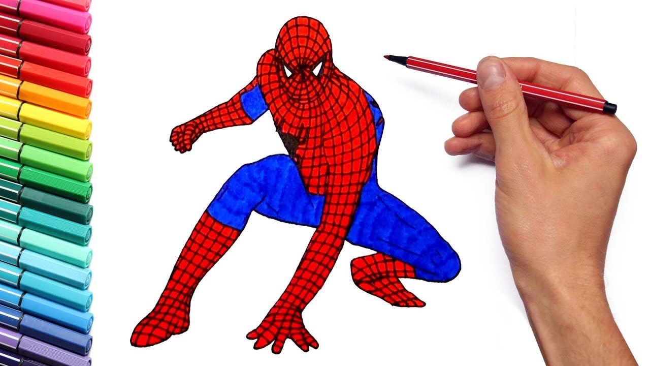 coloring pages spiderman easy drawings - photo#35