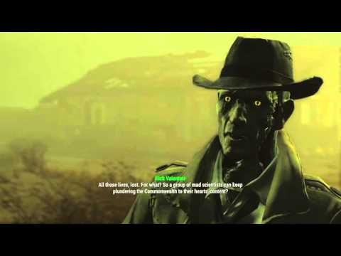 Fallout 4 Nick Valentine's reaction to siding with the Institute.