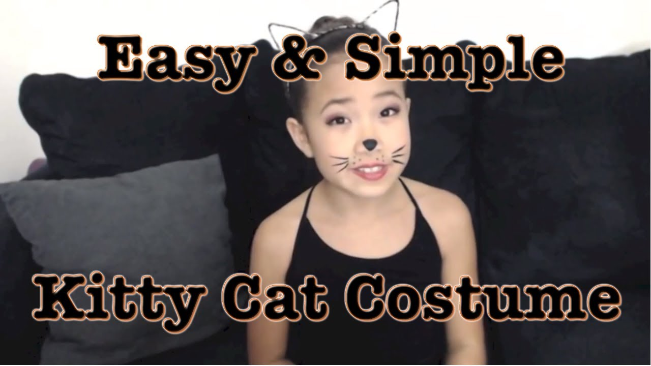 How to easy kitty cat costume look for halloween youtube solutioingenieria Image collections