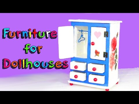 EASY CRAFTS FOR CHILDREN - MINIATURE FURNITURE FOR DOLLHOUSE