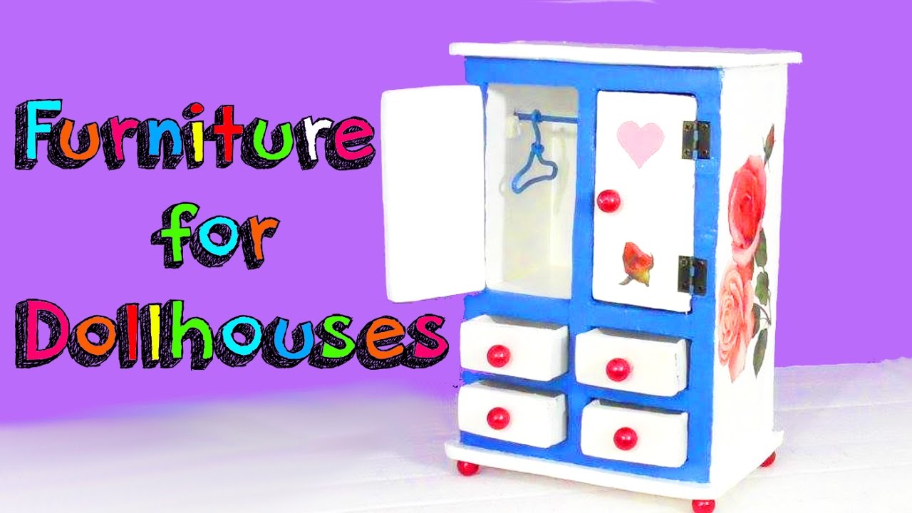 inexpensive dollhouse furniture. EASY CRAFTS FOR CHILDREN - MINIATURE FURNITURE DOLLHOUSE Inexpensive Dollhouse Furniture