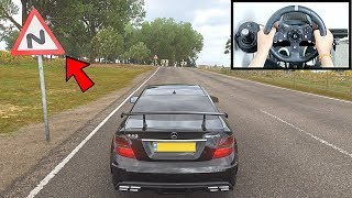 Forza Horizon 4 Drifting Like A BOSS (Steering Wheel + Shifter) Mercedes C63 AMG Gameplay