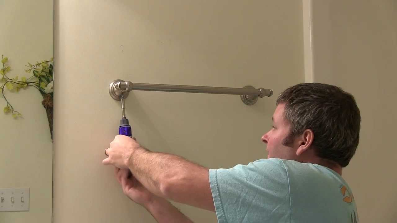 Towel Bar Removal from Wall HOWTO  YouTube