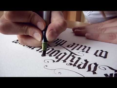 Everybody Wants to Rule the World - Blackletter Calligraphy