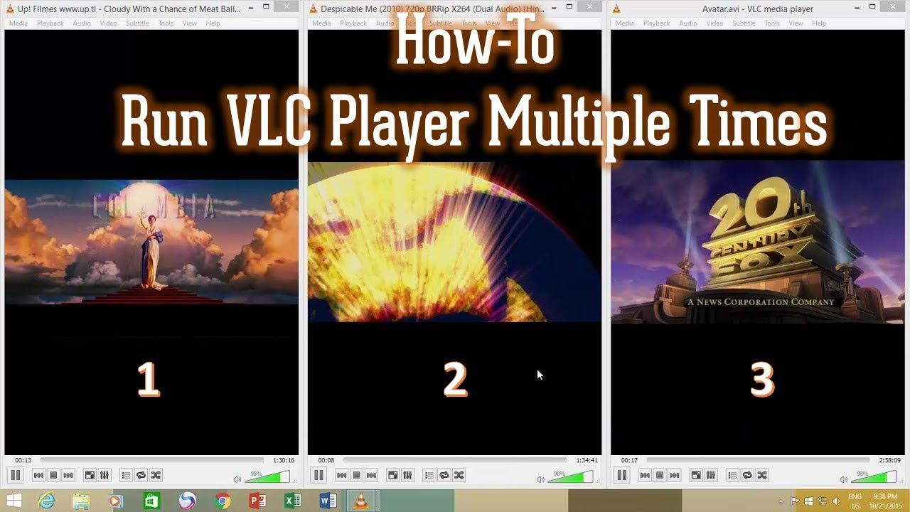 How to Play Multiple Videos at once in VLC Media Player Tutorial