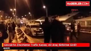 Gölcük'te Zincirleme Trafik Kazası: 40 Araç Birbirine Girdi!