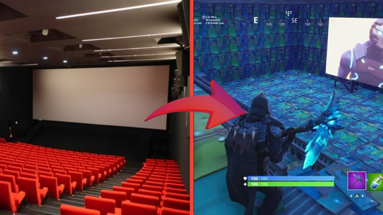 Creer Une Salle De Cinema Dans Fortnite Youtube