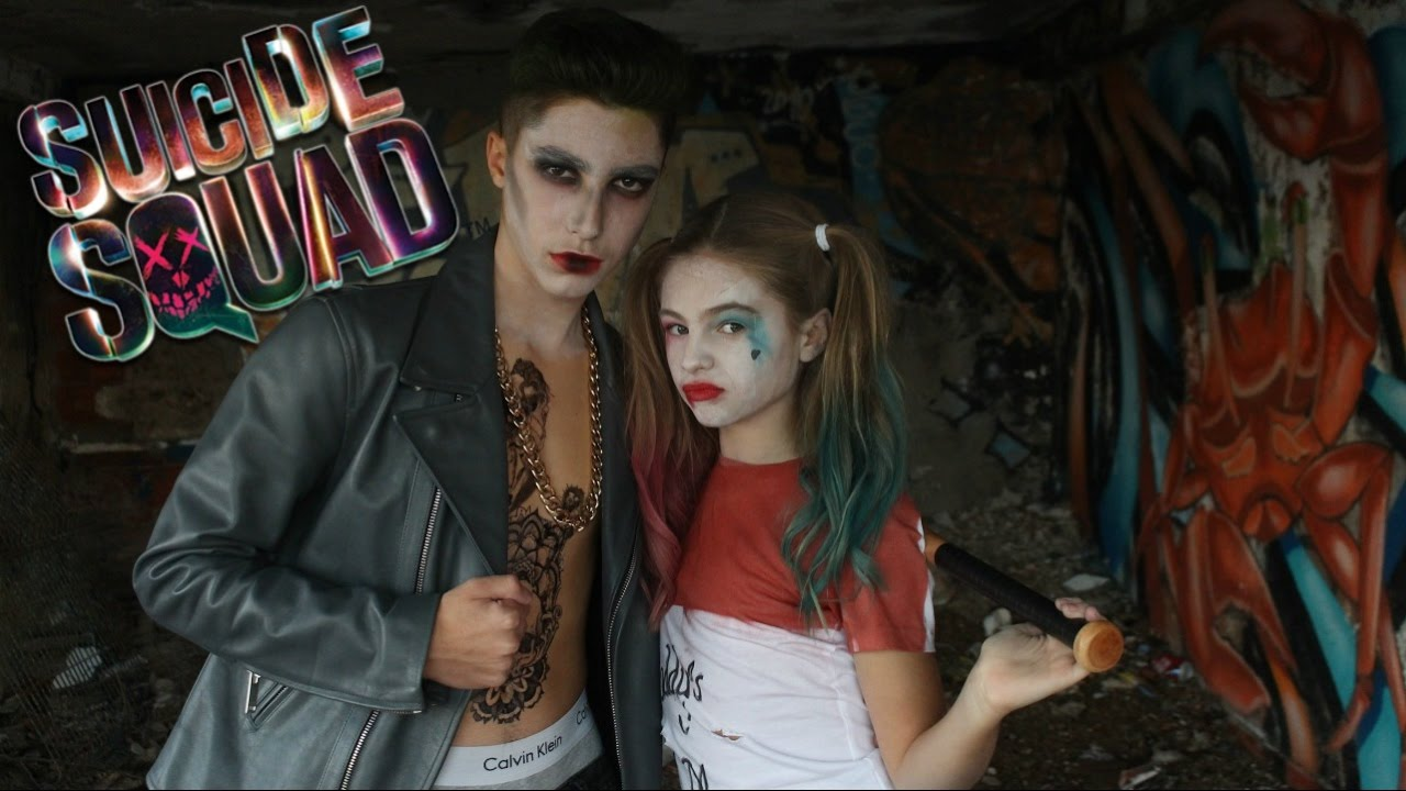 HARLEY QUINN \u0026 JOKER  MAKEUP AND LOOK , Suicide Squad