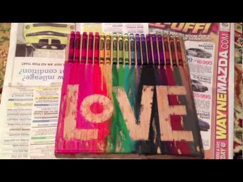 Crayon Melting Painting #1!