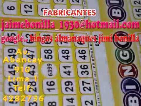 Bingos Almanaques Buscanos En Facebook Bingosjimi By