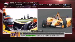 2017 Indy 500 - Fernando Alonso Qualifying