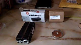 Magnet Fishing. 250lb Harbor Freight -VS- 249lb CMS magnet. Part 1