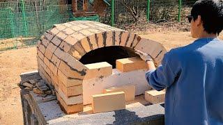 서양식 벽돌 피자화덕 만들기 전 과정 - Wood Fired Brick Pizza Oven DIY