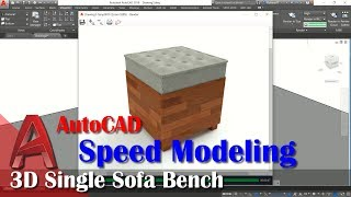 3d Single Sofa Bench Speed Modeling With AutoCAD