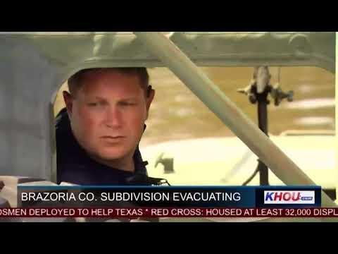 Brazoria County subdivisions evacuating