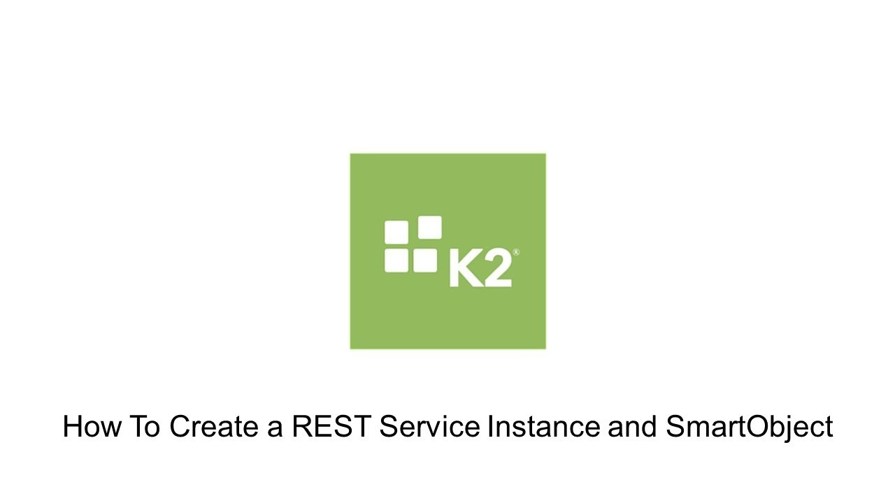 How-To: Create a REST Service Instance and SmartObject