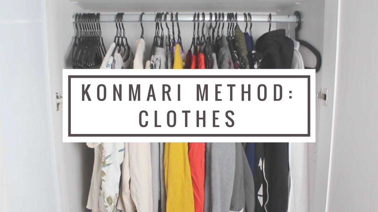 How To Organize Your Clothes Konmari Method Youtube