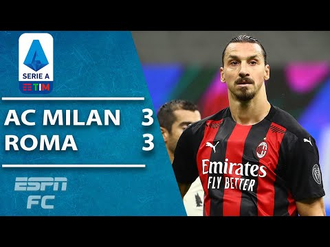 Chaos, controversy & Zlatan Ibrahimovic magic as Milan, Roma draw 3-3   ESPN FC Serie A Highlights