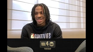 2020 Rookie of the Year Ja Morant Joins the NBA on TNT Tuesday Show