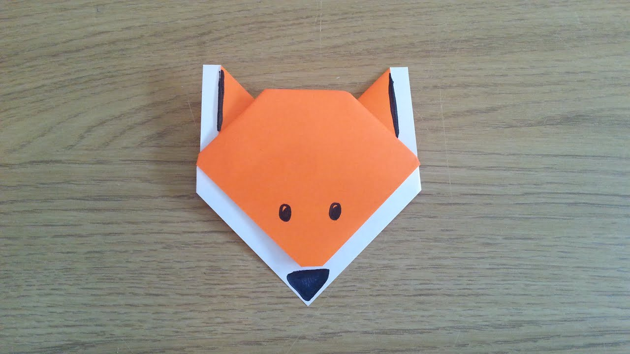 how to make a simple origami fox youtube