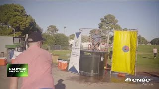 Watch Jon Najarian get dunked for cancer fundraiser