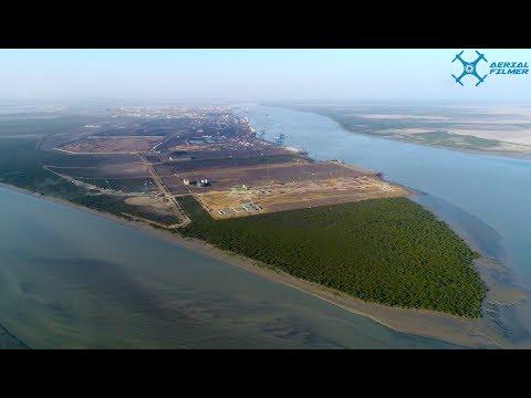 Kandla Port in Gujarat Drone Video by Aerial Filmer for Keller India