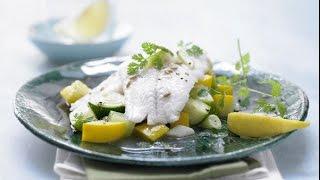 Рыба с кабачками. Гарнир из кабачков.