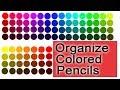 Organize Arteza 72 Colored Pencils by Color Wheel Order