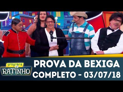 Prova Da Bexiga - Completo | Programa Do Ratinho (03/07/2018)