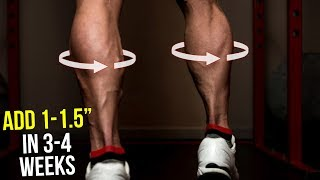 "How To Get Bigger Calves (Grow 1-1.5"" in 3-4 Weeks At Home!!)"