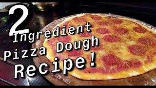 Easy 2 Ingredient Pizza Dough Recipe | No Yeast Necessary!