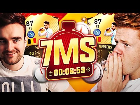 87 ST MERTENS 7 MINUTE SQUAD BUILDER VS AJ3 - FIFA 17 ULTIMATE TEAM!!