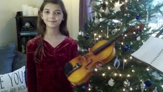 Silent Night on Violin by Ellie