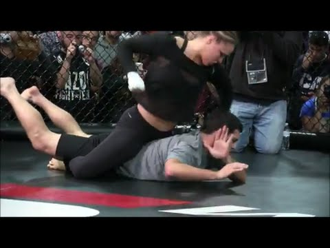 Ronda Rousey Fighting Men!! Bad Ass Fight Training - YouTube