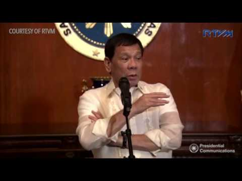 Duterte holds press conference in Malacañang